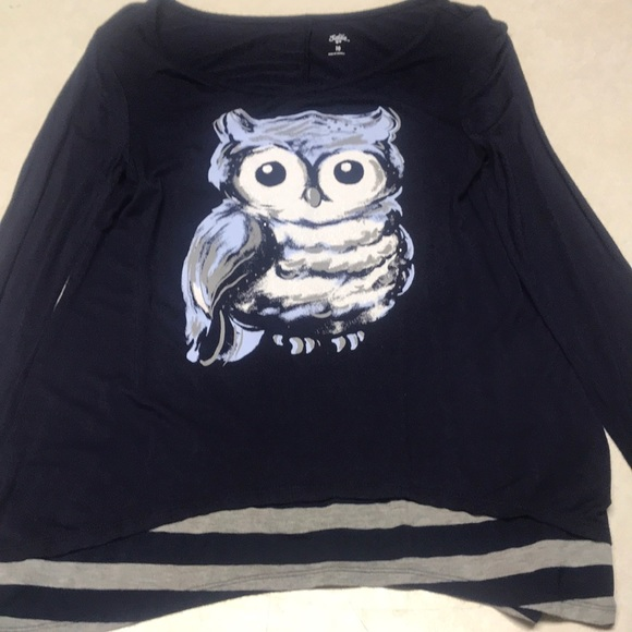 Justice Other - Girls long sleeve owl print shirt